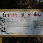 Señal. Camino Cervantes, San Juan de la Cuesta